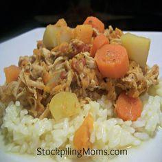 Freezer Cooking :: Crockpot Chicken & Sweet Potato Stew Recipe