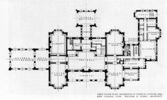 First Floor plan of the Lewis H. Lapham, Esq. Mansion, New Canaan, Connecticut    ARCHI/MAPS : Photo