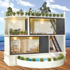 Modern dollhouse | Mid century modern dollhouses