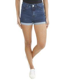 Short Hot Pant Jeans de Poás Azul Escuro - cea