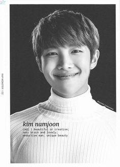 BTS / Rap Monster / Face Photo / Wallpaper ©mysunrisehoseok