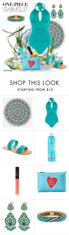 """swimsuit"" by crisvalx-cv ❤ liked on Polyvore featuring Billabong, Kenneth Cole, Old Navy, COOLA Suncare, NARS Cosmetics, Stella & Max and onepieceswimsuit"
