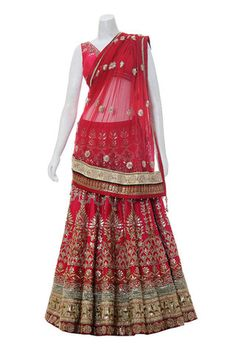 Designer Bridal lehenga choli in Red color – Panache Haute Couture http://panachehautecouture.co.in/collections/lehenga-choli-online-shopping/products/designer-bridal-lehenga-in-dark-pinkd-color