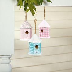 Give your home a fresh start with some adorably fun decoupaged birdhouses.