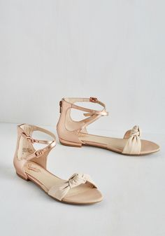 I've Got a Secret Sandal in Rose Gold. And its that we simply cannot contain our love for these shimmering sandals by Seychelles! #pink #modcloth