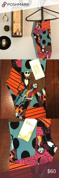 Lularoe Jack and Sally NBC OS Leggings Unicorn Jack and Sally print from the LLR Nightmare Before Christmas capsule! When these are gone, they're not making anymore 🦄🦄🦄 LuLaRoe Pants Leggings