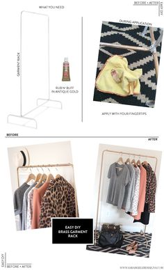 Easy DIY: Brass Garment Rack : a dose of pretty