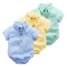 Baby Clothes Summer Newborn Boy Girl Clothes Set Baby Fashion roupas Infantis menino Products Clothing Babies Body Lapel Rompers Source by official_rosewr Cute Baby Boy Outfits, Boys Summer Outfits, Toddler Boy Outfits, Newborn Boy Clothes, Baby Kids Clothes, Baby Outfits Newborn, Boy Newborn, Baby Boys, Baby Clothes Online