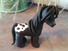 Little appy polymer clay horse.