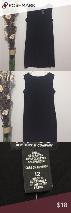 Elegant Black NY&CO Dress Elegant black New York & Company dress. Semi-stretch material. Everyone needs a basic black dress! New York & Company Dresses