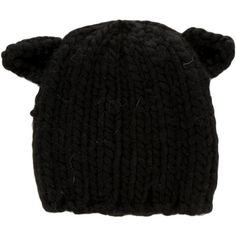 Eugenia Kim Wool Cat Ear Beanie w/ Tags (235 AUD) ❤ liked on Polyvore featuring accessories, hats, black, eugenia kim, beanie hats, beanie cap hat, wool beanie and woolen hat