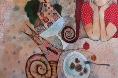 Menjar amb color, fantasia i bona companyia Des de fa temps anem seguint les il·lustracions d' Anna Silivonchik i ja hem ficat algun...