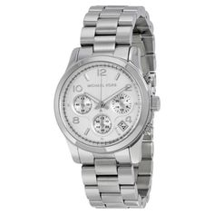 jewelry: Michael Kors Silver Midsized Chrono Ladies Watch MK5076 #Jewelry - Michael Kors Silver Midsized Chrono Ladies Watch MK5076...