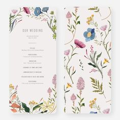 Herbs & Wildflowers Wedding Programs from Paper Culture Wedding Reception Ideas, Wedding Programs, Wedding Guest Book, Wedding Themes, Our Wedding, Wedding Planning, Dream Wedding, Wedding Tips, Fall Wedding