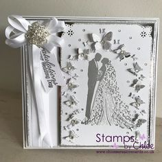 Does anyone know how to make card been looking for tutorial Wedding Card Verses, Wedding Day Cards, Wedding Cards Handmade, Wedding Anniversary Cards, Handmade Birthday Cards, Wedding Stuff, Chloes Creative Cards, Stamps By Chloe, Valentine Love Cards
