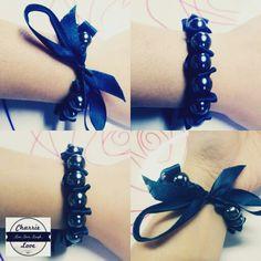 #art #artsy #bracelet #beadbracelet #blue #sunday