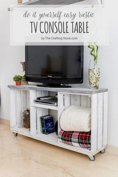 20 Easy U0026 Amazing DIY TV Stands That Anyone Can Make   Tutorials