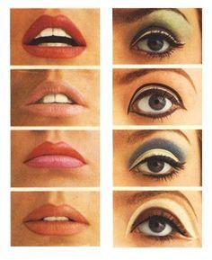 Vintage Makeup make up inspiration. Makeup Vintage, Retro Makeup, Vintage Beauty, Sleek Makeup, Sixties Makeup, Twiggy Makeup, 1970s Makeup Eyes, 1920s Makeup, Vintage Cat