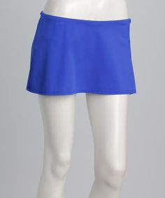 Take a look at this Cobalt Skirted Bikini Bottoms - Women by Jantzen on #zulily today!  $24.99, regular 58.00