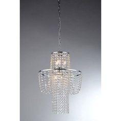 Warehouse of Tiffany Charlotte RL6568 Crystal Pendant Light, Silver