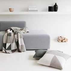 soft greys, fawn and winter white - Patches plaid from Georg Jensen Damask