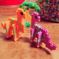 Dinosaurs perler beads by jennacalabro