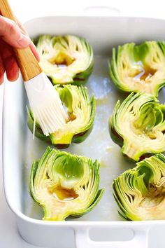 The Most Amazing Roasted Artichokes - How To Eat Healthy Vegetable Side Dishes, Vegetable Recipes, Vegetarian Recipes, Cooking Recipes, Healthy Recipes, Vegetarian Grilling, Healthy Grilling, Veggie Food, Veggie Recipes Sides