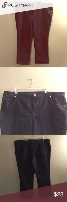 Isaac Mizrahi Live size 26P dark indigo jeans Isaac Mizrahi Live size 26 petite icon grace straight leg jeans.  Dark indigo color- only worn two times.  5 pocket style Like new condition.  Originally purchased from QVC.  They come from a smoke free and pet free home.  Bundle & save! Isaac Mizrahi Jeans Straight Leg