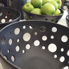 A piece of sculpture in its own rite, the holes also allow circulation for use as a fruit/vegetable bowl. Each Dear Liza Bowl is hand-thrown and hand-carved by one of the members of our B. 1802 Rural Artist Collective.