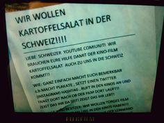 Eine interessante Initiative unserer Schweizer Nachbarn ...