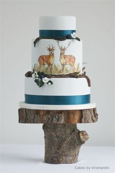 The quintessential rustic wedding cake...