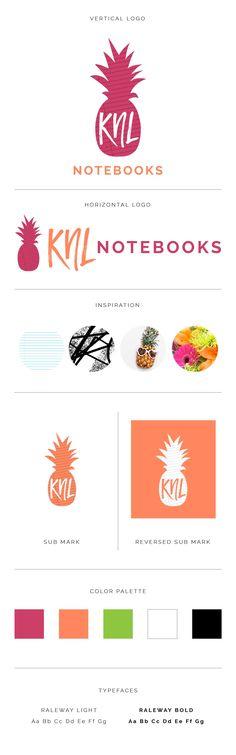 Fun, summery logo and branding, neon colors, bright, bold brand, graphic design.