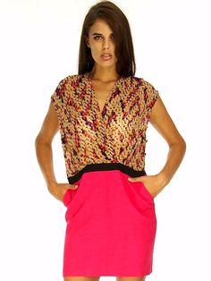 ALICE PINK PATTERN DRESS Pattern Dress, Dress Patterns, Pink Patterns, Affordable Fashion, Alice, Shopping, Dresses, Women, Style