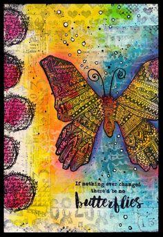 Butterflies art journal full