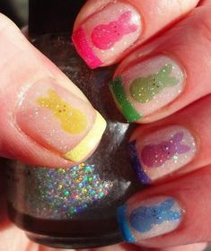 Colorful Peeps Nails