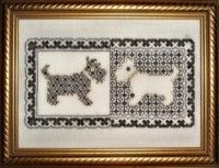 Try a new twist on assisi embroidery, these three designs use blackwork instead of cross stitch to give a wonderful effect. Blackwork Embroidery, Cross Stitch Embroidery, Hand Embroidery Designs, Modern Cross Stitch, Scottie, Needlework, Dog Cat, Sewing, Black Work