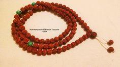 Rudrakshya mala beads necklace108 by KhasyorInternational on Etsy
