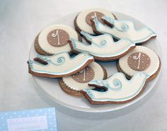 Decorated cookies at a Baptism!  See more party ideas at CatchMyParty.com!  #baptism #partyideas