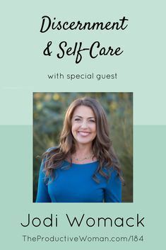 Jodi Womack is making her own life that matters using discernment, self-care, and tools she's developed in her practice as an executive coach. She shares some of them with us in episode 184 of The Productive Woman podcast. Hear more at TheProductiveWoman.com/184.