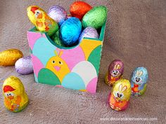 Easter Eggs, Diy, Easter Table, Souvenir Ideas, Custom Crates, Decorated Boxes, Sweet Like Candy, Creativity, Bricolage
