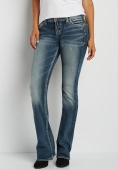 Silver Jeans Co.® Tuesday bootcut jeans with distressing#wishpinwinsweepstakes #discovermaurices.