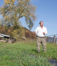 Everything on Joe Bragger's Buffalo County farm is connected and has a purpose: The cows and the chickens, the trout and the trees, the soil and the stream. He not only loves the land, but clearly sees what it can do for him and what he can do for it.