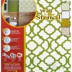 "The Moroccan Wall & Floor Stencil are easy to use ""all over"" designs used to create a custom look in your home, office, garage and more. They can be used with any paint on walls, floors and ceilings, both indoors and outdoors. They can be rolled on, sponged on and put on with a rag."