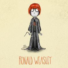 ron weasley tim burton victor medina | Blog Hogwarts: todo sobre Harry Potter