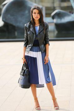 #fashion #fashionista Annabelle nero bianco azzurro VIVALUXURY: DAY 3 NYFW SS13 - HERVE LEGER