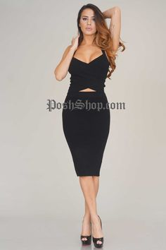 Solitary Knit Two Piece - Black - New Arrivals