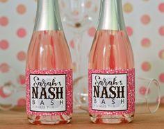 Nash Bash Nashville Bachelorette Mini Champagne Labels Favors  by PreppingParties