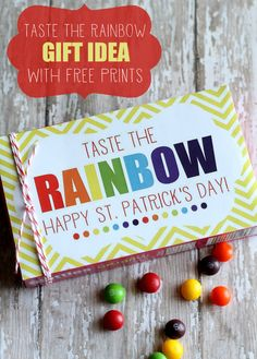 Taste the Rainbow Prints and Gift idea - perfect for St. Patricks Day! { lilluna.com }