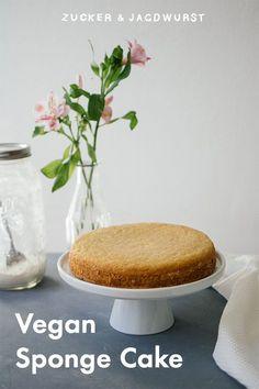 Vegan Sponge Cake #vegan #spongecake #biscuitdough #dough #biskuit #veganbasics #vegancake #cake #summercake