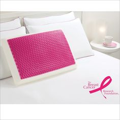 Comfort Revolution Memory Foam and Hydraluxe™ Gel Bed Pillow - Pink Bubble BCRF